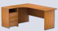 Эргономичный стол с приставной тумбой