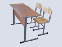Комплект учебной мебели регулируемой по высоте (двухместный)