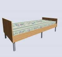 Кровать односпальная с пружинным матрацем