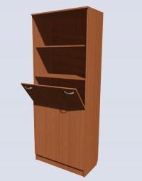 Шкаф с секцией для плакатов и таблиц