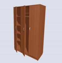 Шкаф трехстворчатый, комбинированный