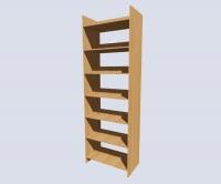 Стеллаж библиотечный двухсторонний на 7 полок