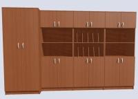 Стенка для учительских комнат из 4-х секций