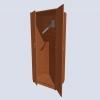 Шкаф для плакатов с наклонной планкой